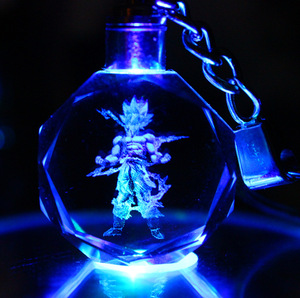 Dragon Ball Dragonball Z Crystal Led Key Chain dragon ball z keychain