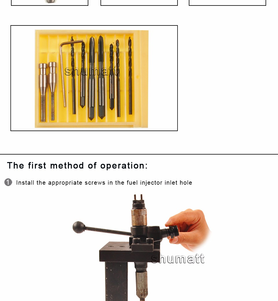 Fuel injector assembly disasembly tool oil filter removal tool