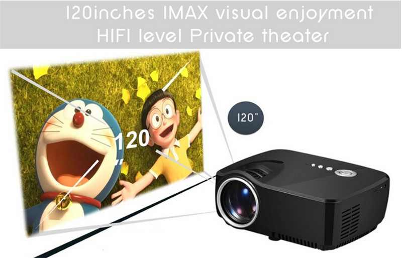 Gigxon - G700 Full HD Mini Portable Projector Home Theater LED TV Video Game Beamer 1200 Lumens SD HDMI USB 1080P LCD Projectors