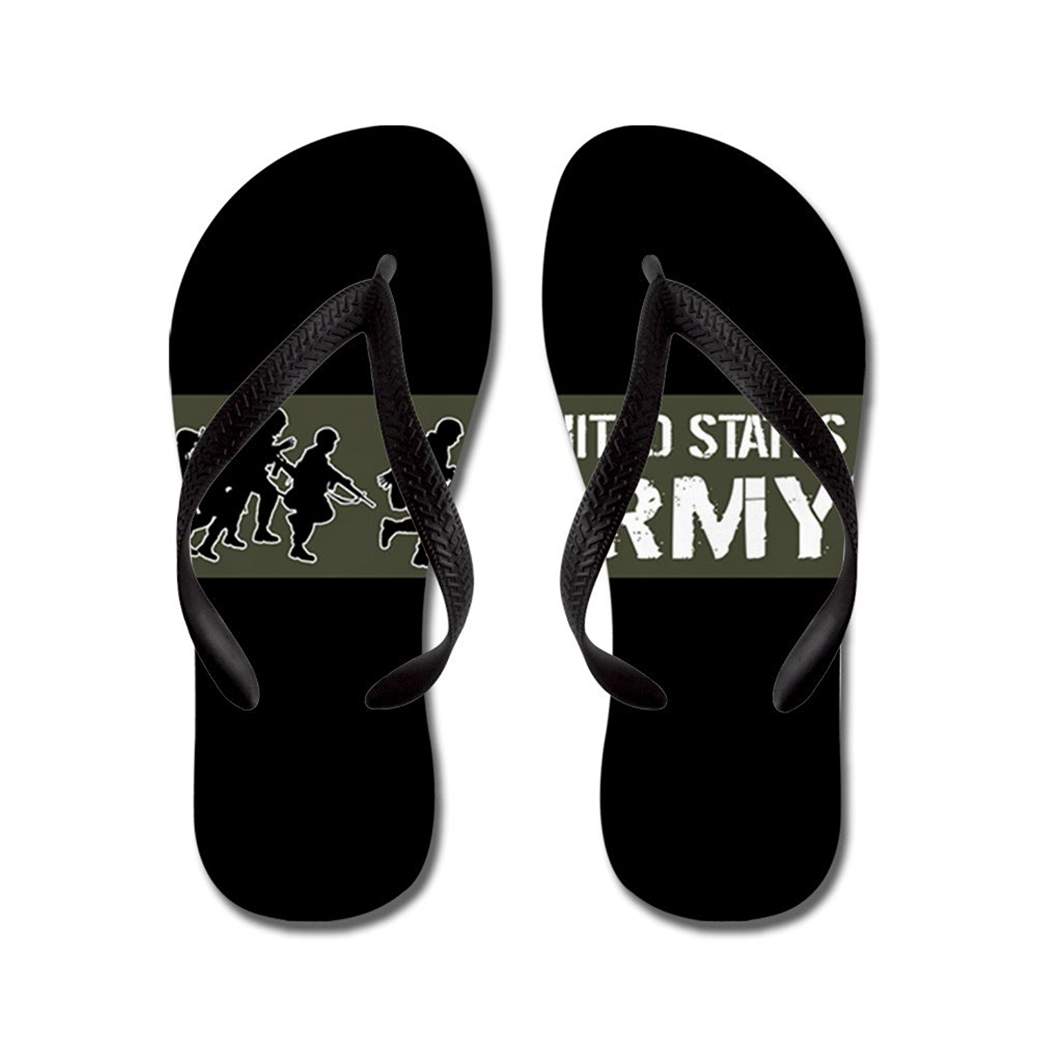 4a877ebfedd Get Quotations · CafePress U.S. Army  United States Army (Military - Flip  Flops