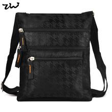 19.5*22.5cm Black and Brown 2 Color Fashion Denim Thread Pattern Bag Men Men's travel bags Purse QQ1895