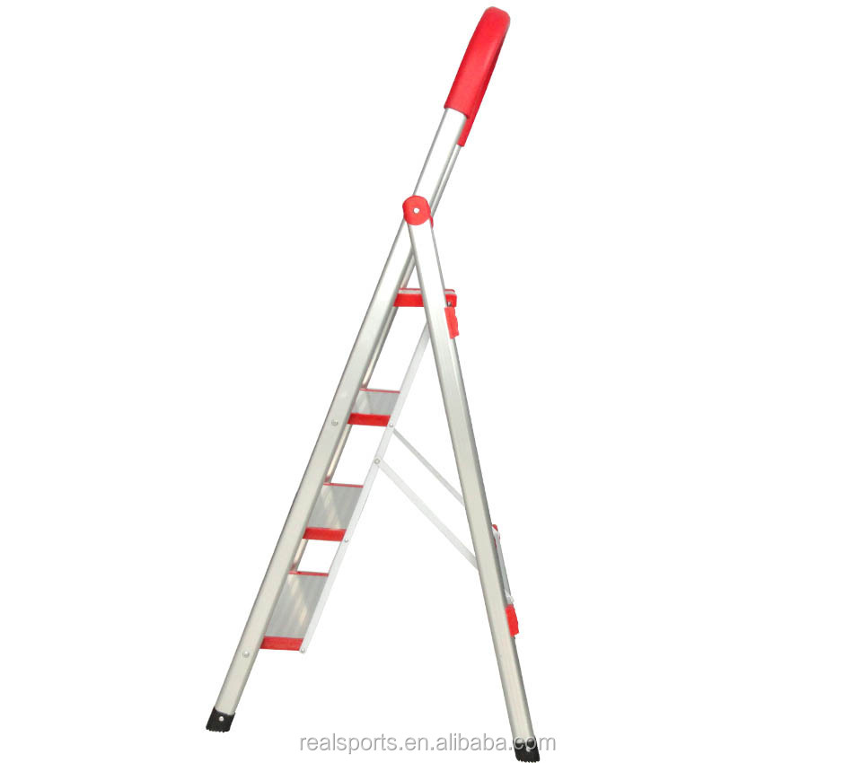 Folding Ladder Four Step Wide Pedals Aluminum Ladder Household Alununum Ladder Foldable