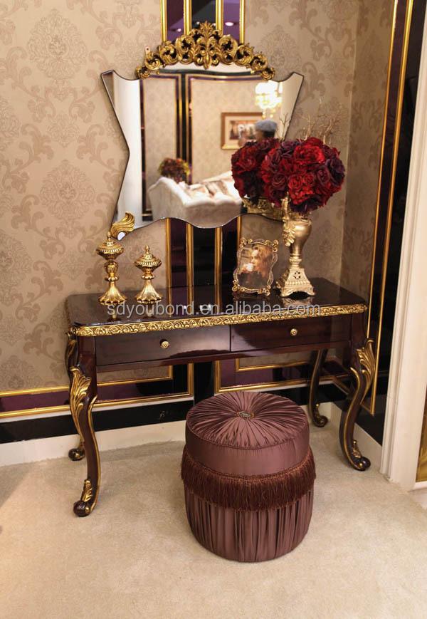 0063 Arabic Wooden Carved Antique Latest Bedroom Furniture Designs