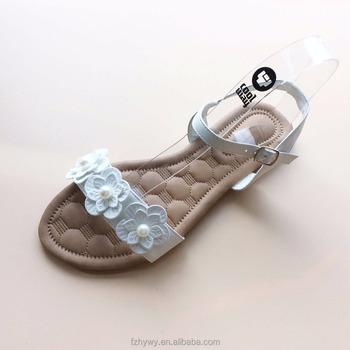 27e6c8d1baca 2018 Low price white flower inlay ladies individual sandals elegant flat women  shoes