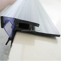 Aluminum profile with PVC clear diffuser , double-side shine for stairs lighting