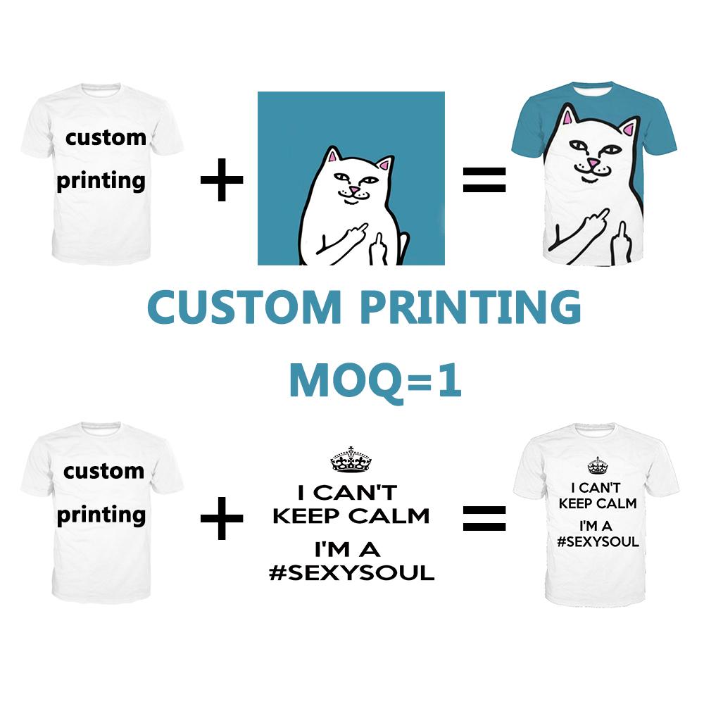 Dropship Oem All Over Full Digital Sublimation Dtg T-shirt Printing T Shirt  Print On Demand Custom Logo 3d Tshirt For Men Unisex - Buy 3d Printing T