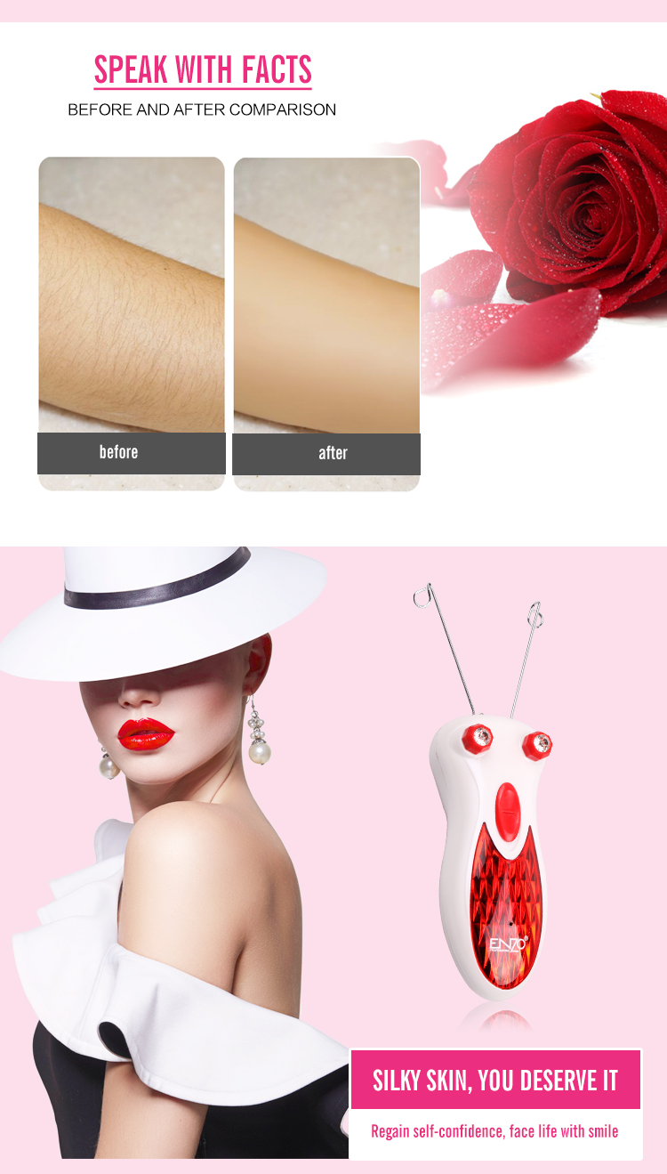 ENZO 2019 Fashion professional mini electrical defeatherer skin beauty women rechargeable face hair threading lady epilator