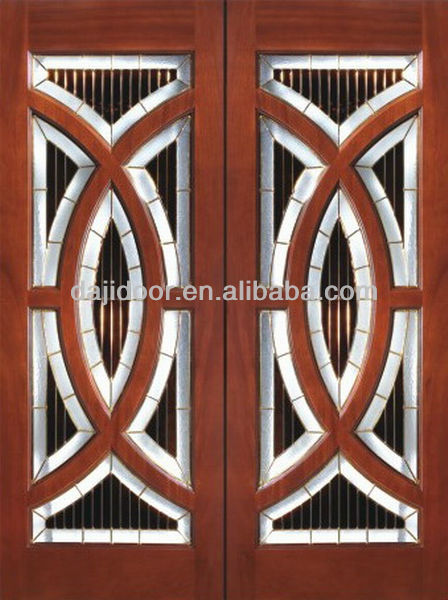 New Design Double Wooden Window Door Models Dj-s809