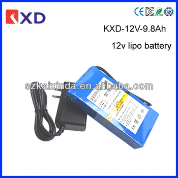 kxd rechargeable 9800mah 12v lipo battery pack for lights buy lipo battery 12v lipo battery. Black Bedroom Furniture Sets. Home Design Ideas