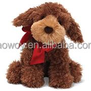 12 Inch soft Plush Stuffed Pup with Ribbon logo animal toy