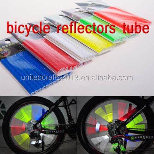 Riding Bike Bicycle Wheel Spoke Reflector Reflective Mount Clip Tube Cycling Warning Strips