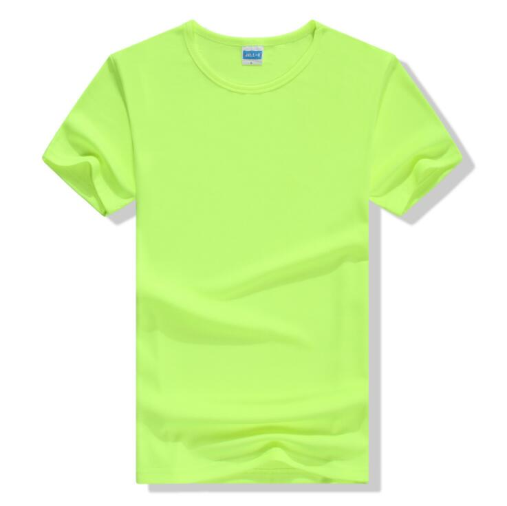100% Polyester Cheap Custom Fluorescent Green Dry Fit T Shirt For Promotion