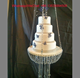 fancy wedding hanging crystals cake stand for wedding decoration