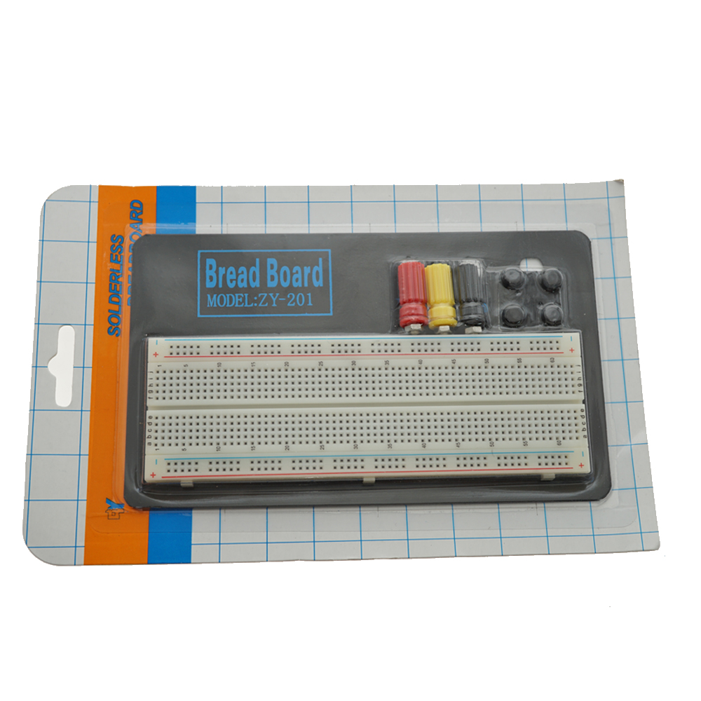 830 Points 3 Binding Posts Round <strong>Hole</strong> solderless Breadboard