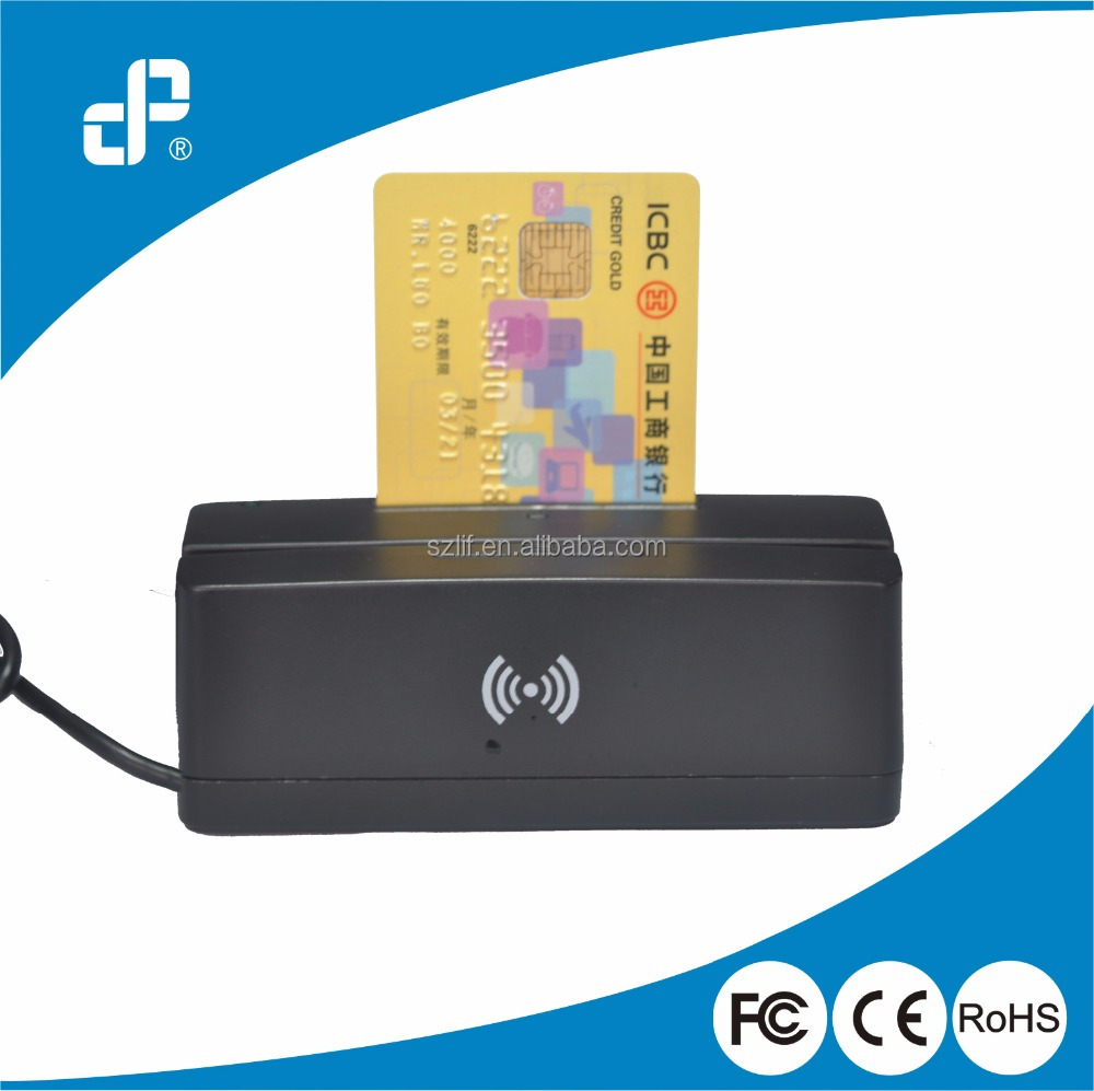 Pos system all in one IC card, msr with nfc chip card reader