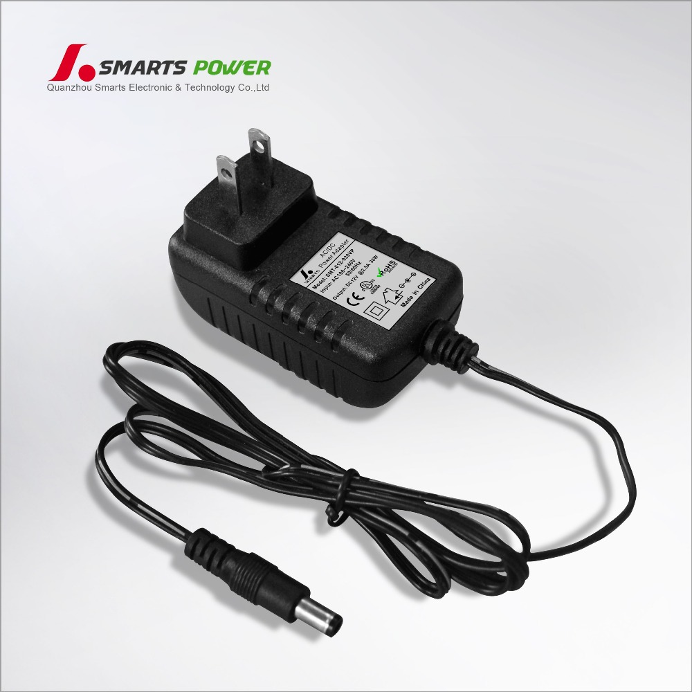 CE listed uk plug 12v 24v 30watt ac dc adapter for neon light