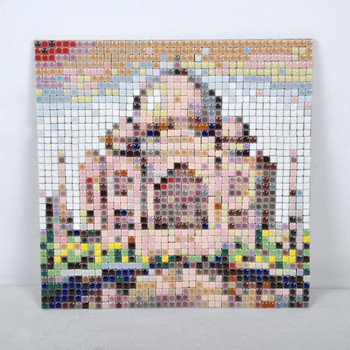 taj mahal decoration diy handmade arts and crafts mosaic kit diy christmas decoration craft kit