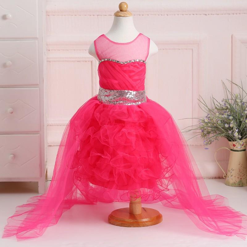 Mejor venta última moda del vestido de boda musulmán Tull flor niñas ...
