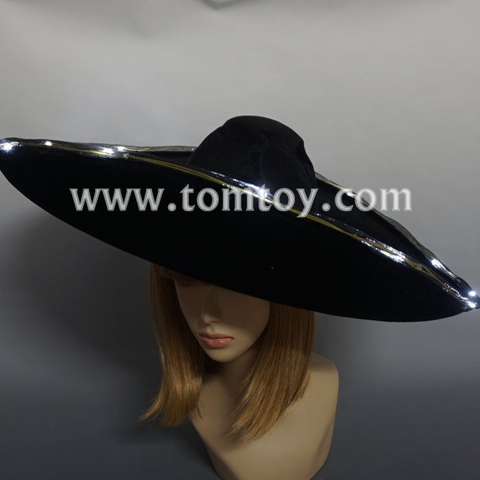2018 Led Flashing Elegant Big Super Wide Brim, Brim Floppy Dress Hat