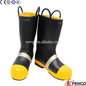 Es estándar bombero de goma de mascar de lucha contra incendios botas de  seguridad 1457c552ea5a8