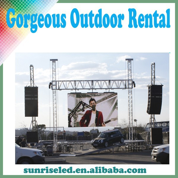 Sunrise Professional manufacturer Factory price out-casting display video and animation advertising big led screen
