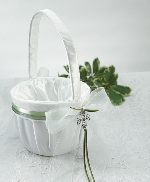 New Product! AAAA Quality Celtic Charm Irish Flower Girl Basket Wedding Decoration