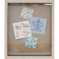 INTCO PS frame and fabric 3d shadow box wall art