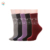 Women wool socks custom logo snow jacquard knit cable thick winter warm thermal sock
