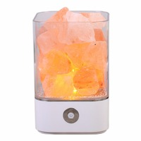 Himalayan Salt Lamps Natural Himilian Hymalain Pink Salt Rock Lamps Crystals Night Light with Touch Dimmer Switch