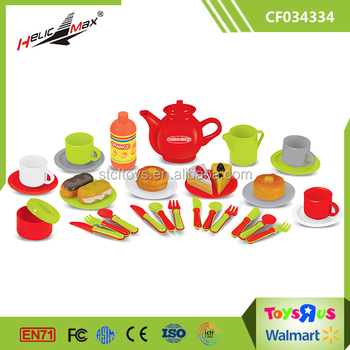 Tableware Pretend Toy Playing Eating Foods Kids Play Kitchen Set ...