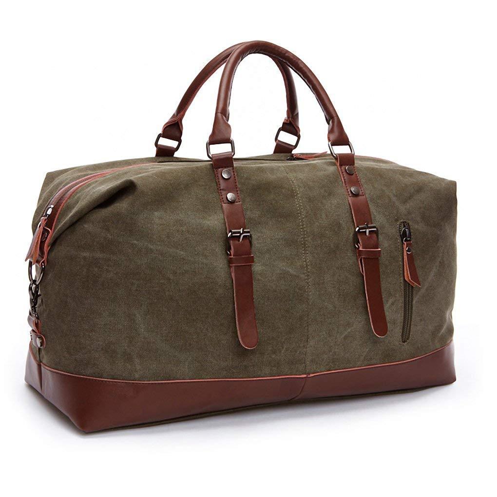 Kenox Canvas Travel Duffel Bag Sport Tote Bag Weekender Overnight Luggage