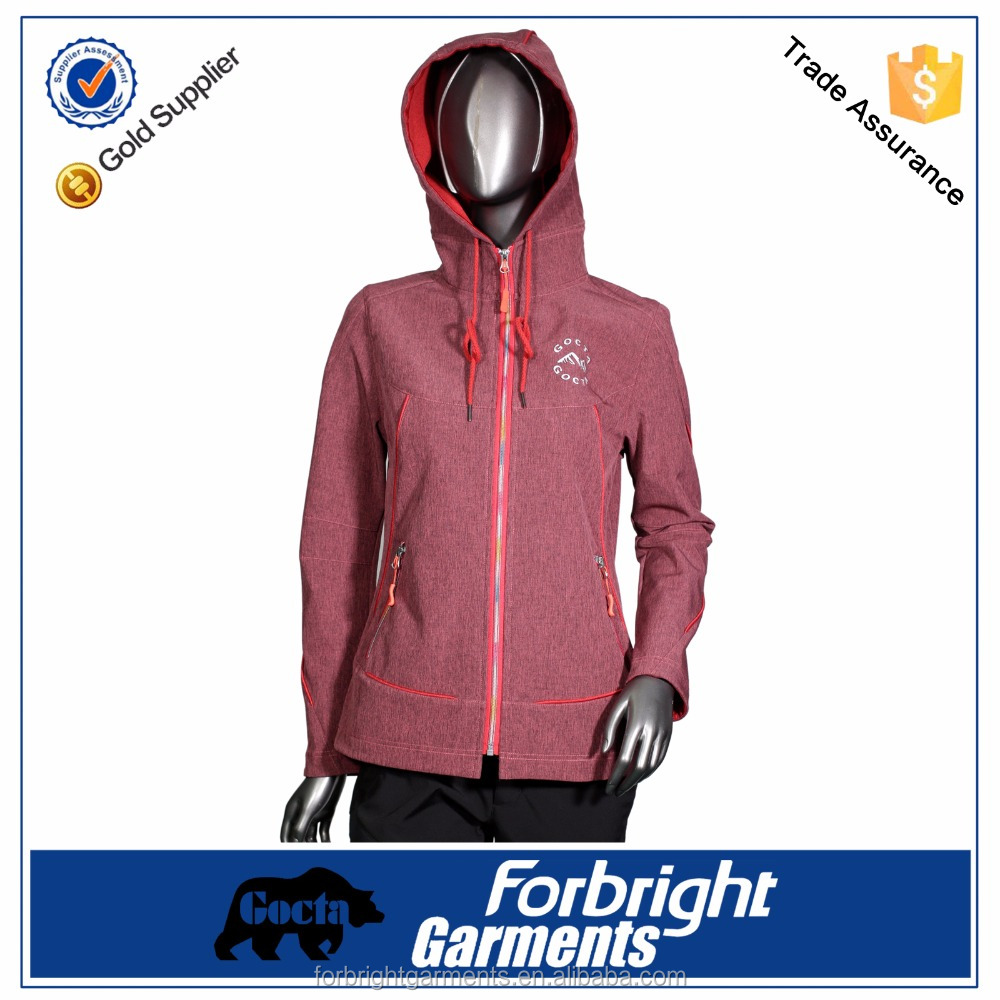 performance women outdoor hooded jacket
