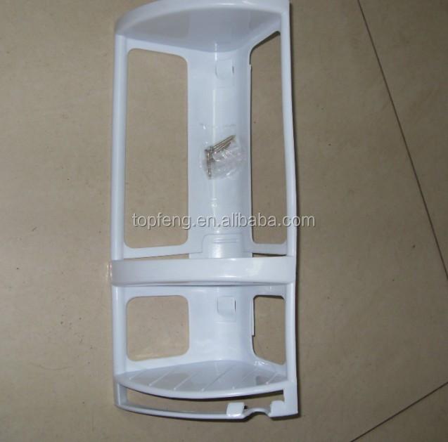 corner mounted shower caddy plastic bathroom shelf. Black Bedroom Furniture Sets. Home Design Ideas