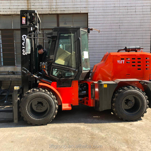 small manual 3 ton all terrain forklift truck price