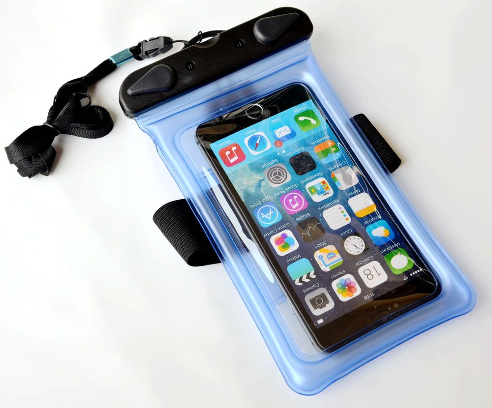 "Plastic waterproof bag for Mobile Phone with armbrand 6"" screen touch Folating"