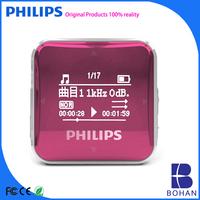 Philips 8G Portable Mini FM Radio Mp3 Player with Remote