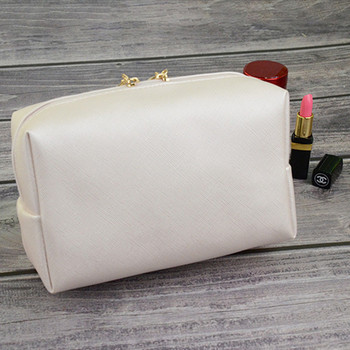 Korean style solid cosmetic bag high quality PU leather women bow tie makeup bag waterproof travel neceser wash bag