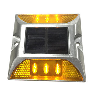 Traffic Safety IP68 Motorway aluminium road studs led cat eyes Best Reflective Solar Road Light Stud Price