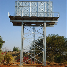 SINTA steel plates water tank with tower for drinking water