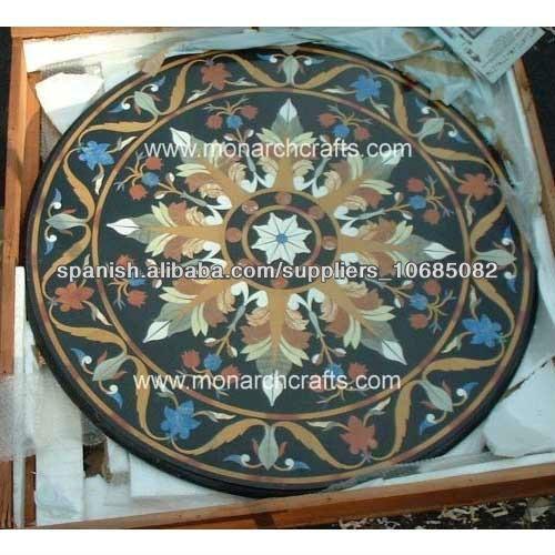 Piedra tapas de mesas para jard n y exteriores muebles - Mesas de piedra para exterior ...