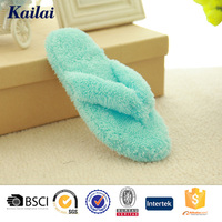 Light blue plush cute flip flops slipper
