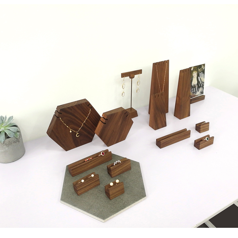 (High) 저 (급 Wood Jewelry Display 서 Fashion Brand Jewelry Display Set Jewelry Display 소품 링 홀더 M18062