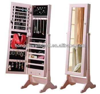 Stand Mirror Jewelry Storage