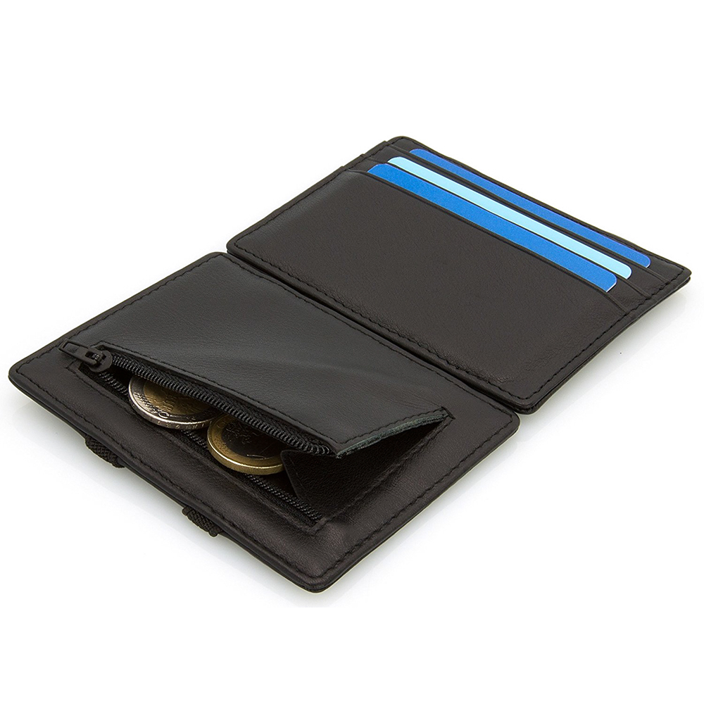 Young Man Slim Wallet New Flip Magic Wallet with Zip Coin Pocket