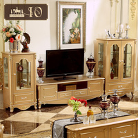 116#luxury european classical style Living Room Furniture Types of TV Stand