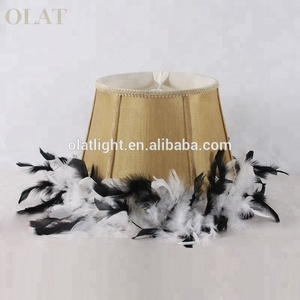 New Design Leather Fabric Lampshade For Table Lamp