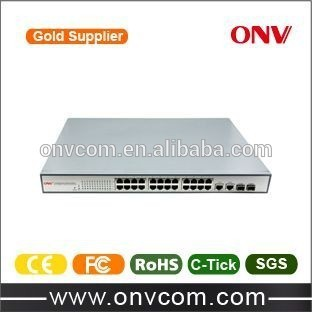 24 Gbps 8 Port Gigabit Network PoE Swith With 10 / 100 / 1000 Mbps Rj45 Port