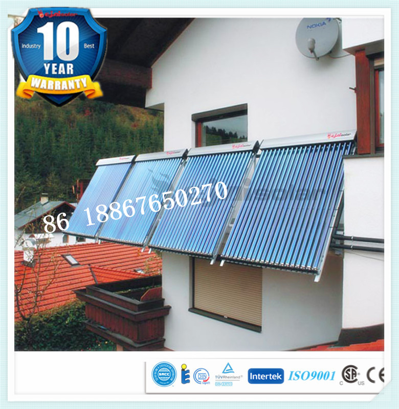 split pressurized solar water heater parts for Amefican market ISO EN12975 CE CSA SRCC certified