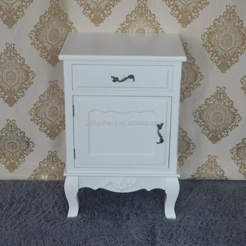 Antique Furniture Bedroom Mdf Nightstand Drawer Bed Side Table