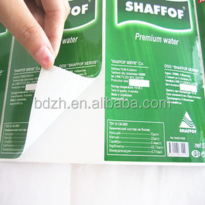 Permament peel off easily self Adhesive rolled label